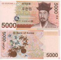 South KOREA   5'000 Won    P55a  (ND  2007)   UNC - Corée Du Sud