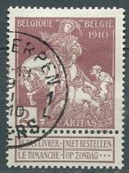 Belgique    -  Yvert N° 89 Oblitéré -  Po56122 - 1910-1911 Caritas