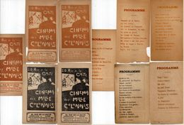 CINEMA Des Milles Colonnes - 5 Programmes  (102397) - Programmes