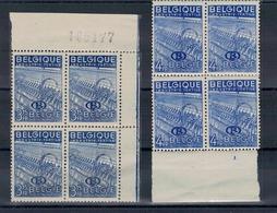 1948 - Type Exportation Avec Lettre B. Bloc De 4. - Service