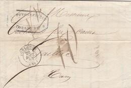 FRANCE - LETTRE CLASSIQUE TOULOUSE POUR GAILLAC 20 AOUT 53  / 4 - 1849-1876: Periodo Classico