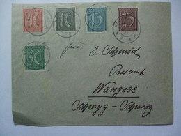 GERMANY - 1921 Brief - Neu Ulm To Wangen Schweiz - Multi-stamped - Germany