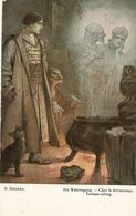 """S.Solomko. Fortune-tlling"" Fine Art, Painting , Antique German Postcard - Solomko, S."