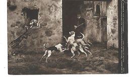 GELIBERT EPISODE DE CHASSE AU RENARD AUX ENVIRONS DE BIARRITZ 1913 CPA 2 SCANS - Peintures & Tableaux
