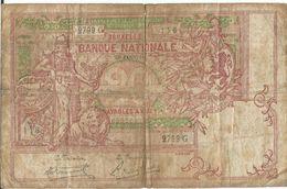 Billet 20 Francs, Twintig Franken, Usagé, 21 Janvier 1919, N° 2799 G, Voir Les 2 Scans - [ 2] 1831-... : Royaume De Belgique