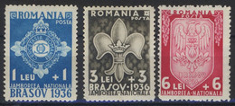 --- 1936 - Roumanie - 505 / 507 ** - Jamboree National De Brasov - Ungebraucht