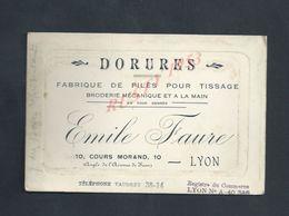 CDV CARTE DE VISITE EMILE FAURE DORURES   À LYON : - Cartes De Visite