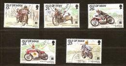 Île De Man 1991 Yvertn°  502-506  (°) Oblitéré Used Cote 8,75 Euro Motocyclisme - Man (Ile De)