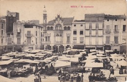 POSTAL DE REUS DE EL MERCADO (UNION POSTAL UNIVERSAL) - Tarragona