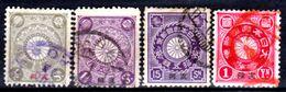 Cina-A-0250- 1900: Sovrastampati Per L'ufficio Postale Diplomatico Giapponese - Dentellati 12,5 - - Cina