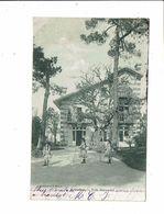 Cpa ARCACHON Villa DURANDAL Fillettes Jeu De Cerceaux Collection Faure - Arcachon