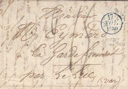 FRANCE -  LETTRE PRECURSEUR  17 NOV 1830  / 6 - 1801-1848: Voorlopers XIX