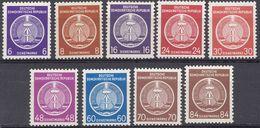 GERMANIA DDR - 1954 - Lotto 9 Valori Nuovi MNH - Servizio Yvert: 2, 3, 7, 9, 11, 13, 15, 16 E 17. - Service