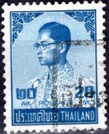 THAILAND 1973 King Bhumibol - 20s - Blue FU - Thailand