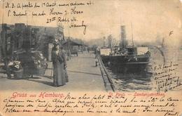 Hamburg  Gruss Aus Hamburg   St. Pauli   Landungsbrücken      I 2767 - Allemagne
