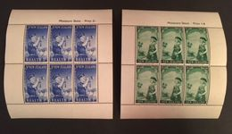New Zealand 1958 Health Sheet Of Six Pair - Unclassified