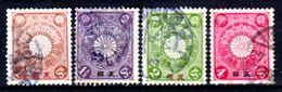 Cina-A-0254- 1900: Sovrastapati Per L'ufficio Postale Giapponese - Dentellati 13 X 13,5 - Senza Difetti Occulti. - Cina