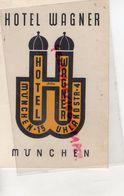 ALLEMAGNE- MUNCHEN-MUNICH- RARE HOTEL WAGNER- 15 UHLANDSTRASSE 5- - Petits Métiers
