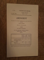 1880 - Amendement - Au Projet De Loi Relatif à L'établissement Du Tarif Des Douanes, Cacao, Fèves Et Pellicules, Broyé, - Decreti & Leggi