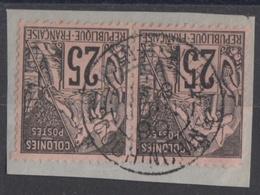 #126# COLONIES GENERALES N° 54 En Paire Oblitéré Saigon Central (Cochinchine) - Alphée Dubois