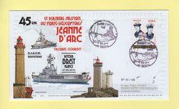 Jeanne D Arc - 45e Et Derniere Mission Du Porte Helicoptere - Tirage 120 Exemplaires - Marcophilie (Lettres)