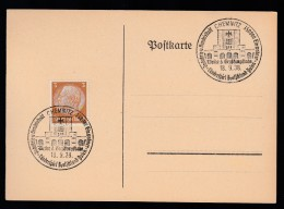 DR Postkarte Sonderstempel 1938 Chemnitz K1648 - Poststempel - Freistempel