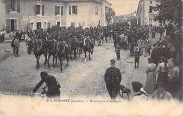 POMAREZ - Manoeuvres D' Artillerie - Landes - 40 - Villeneuve De Marsan