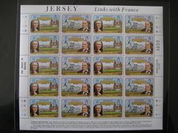 Jersey Liens Avec La France (Links With France) Martell/Hugo N°278 Y Et T 1982 - Jersey