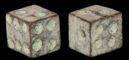 Ancient Roman Bronze Gaming Dice - 1st - 3rd Century AD--5 Mm--- - Archeologia