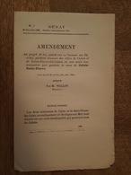 1884 - Amendement - Au Projet De Loi Portant Réunion Des Villes De Calais Et Saint Pierre Lès Calais - Decrees & Laws