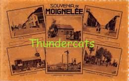 CPA  SOUVENIR DE MOIGNELEE LA GARE RUE DES FLEURS CHARBONNAGE ... - Sambreville