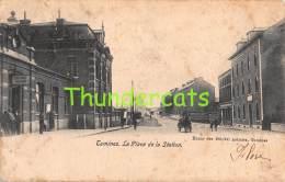 CPA   TAMINES LA PLACE DE LA STATION - Sambreville