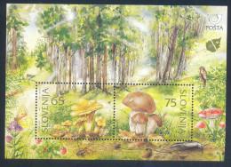 Slowenien Slovenia Slovenie 1996 Used; Mushrooms Pilze; Flora Fauna; Birds Vogel, Butterfly; Strowberies; Trees - Slowenien