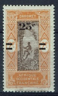 Dahomey (French Colony), Palmtree, 25c./2f., 1922, MH VF - Dahomey (1899-1944)