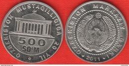 """Uzbekistan 500 Som 2011 Km#34 """"Independence"""" - Uzbenisktán"""