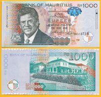 Mauritius 1000 Rupees P-63 2016 UNC - Mauritius