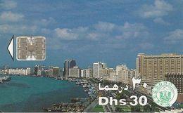 CARTE-PUCE-EMIRATS-30DHS-SC7-DUBAI VUE GENERALE-TBE - Emirats Arabes Unis
