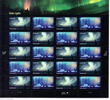 VEREINIGTE STAATEN ETATS UNIS USA 2007 PANE AURORA BOREALIS-AURORA AUSTRALIS 20V SC 4203-4SP YV BF3997-98 98 MI B4315-16 - Ganze Bögen