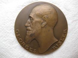 Médaille En Bronze Georges Risler, La Joie Du Foyer Par P.M. POISSON - France