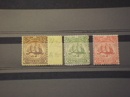 TURKS - 1905 VELIERO 3 VALORI - NUOVI(+) - Turks E Caicos