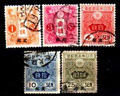 Cina-A-0255- 1914: Sovrastapati Per L'ufficio Postale Giapponese - Dentellati 13 X 13,5 - Senza Difetti Occulti. - Cina