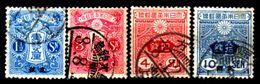 Cina-A-0256- 1914: Sovrastapati Per L'ufficio Postale Giapponese - Dentellati 13 X 13,5 - Senza Difetti Occulti. - Cina