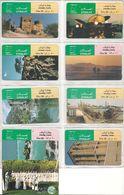 9-CARTES-MAGNETIQUES GENERIQUES-30DHS-EMIRATS-VUES PAYSAGES DIVERS-TBE - Emirats Arabes Unis