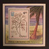 Tuvalu 1987 Ferns Growing On Tuvalu S/S - Tuvalu