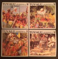Tuvalu 1988 Natl.Independence 10th. Anniv. 4 S/S - Tuvalu