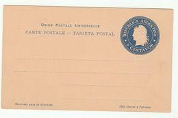 Old 6c ARGENTINA Postal STATIONERY CARD Cover Stamps - Postal Stationery