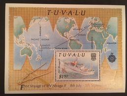 Tuvalu 1989 Maiden Voyage Of M.V. Nvaga 11 1988  S/S - Tuvalu