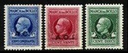 ITALIAN EAST AFRICA, Revenues, */** MLH/MNH, F/VF - Italian Eastern Africa