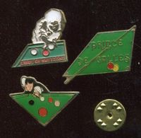 Lot 3 Pin's - Billard - Prince De Galles - Ligue De Bretagne - Billiards