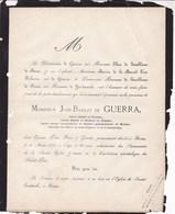 ROME José-Basilio De GUERRA 80 Ans 1871  Sénateur Espagne Ambassadeur Mexique Ordre La GUADELOUPE De JAMBLINNE De MEUX - Décès
